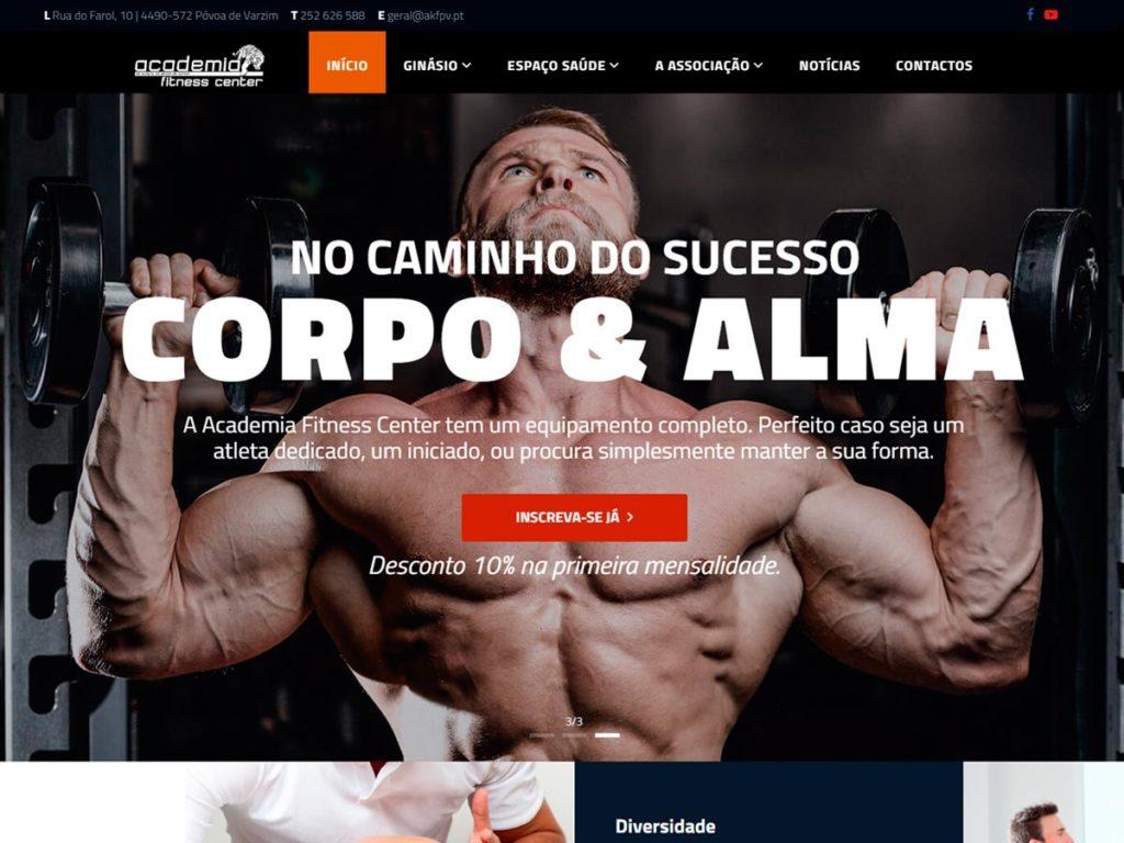 Página internet da Academia Kung Fu da Póvoa de Varzim web design pela Ajnet